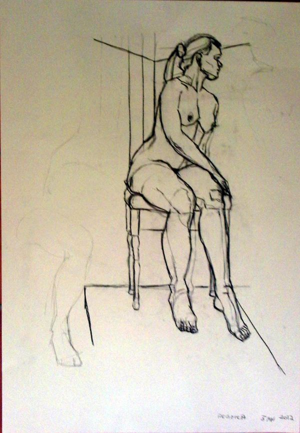 Life drawing; FIGURATIVE ART REPRESENTATIONAL ART