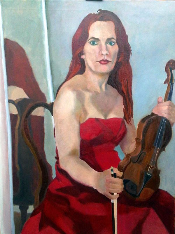 Rebecca and the violin oils