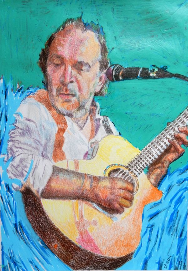 Robert Hokum The Ealing Club A3 drawing