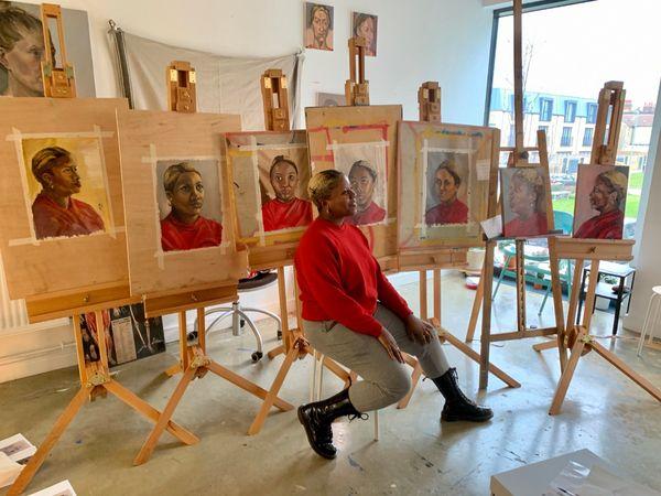 Sketchout portrait in oils course