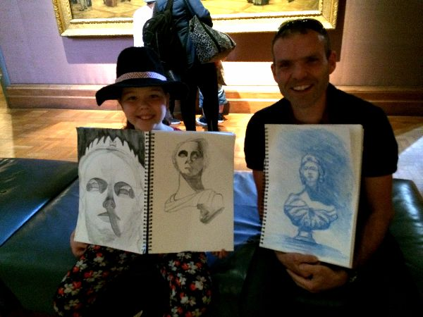 Sketchout students at NPG