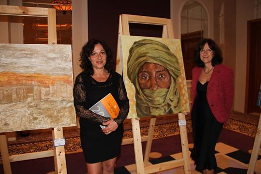 Stella Tooth with her first Egyptian art biennale portrait
