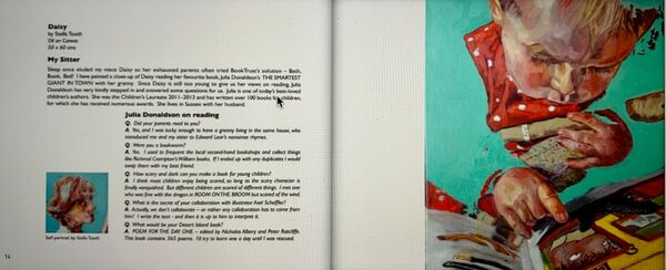 Lots Road Group's The Art of Reading exhibition catalogue: Stella Tooth spread