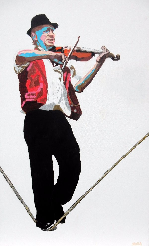 The slackropewalker Brighton oils 70x114x4cms
