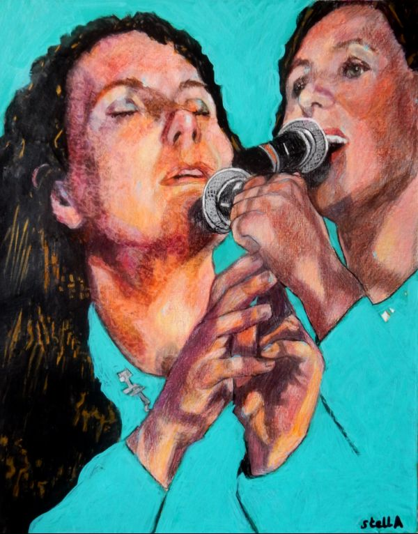 Teach me to be bad: musician Thea Gilmore at the Half Moon Putney portrait drawing by Stella Tooth