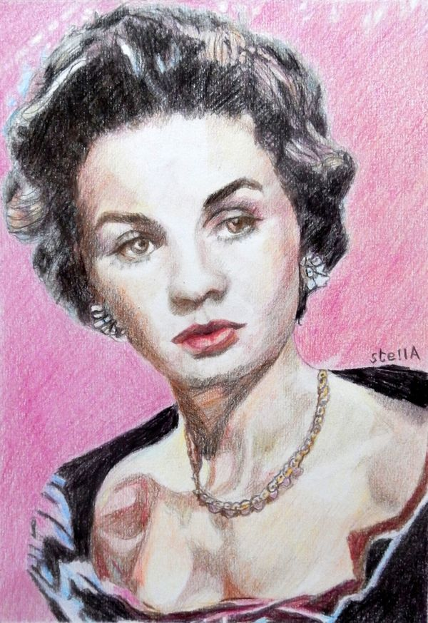 Vivien Leigh portrait drawing by Stella Tooth