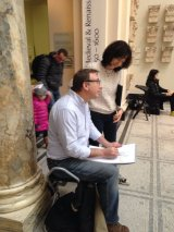 Me at V&A with Sketchout pupil