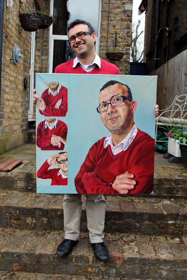 Vince Graff & oil portrait by Stella Tooth