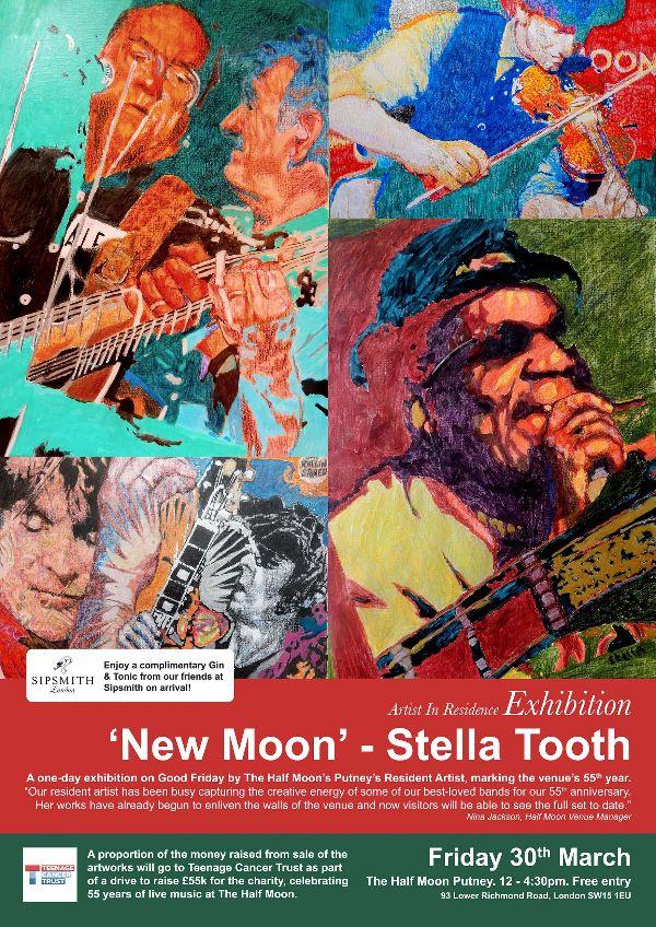 Half Moon Putney Resident Artist Stella Tooth Exhibition flyer