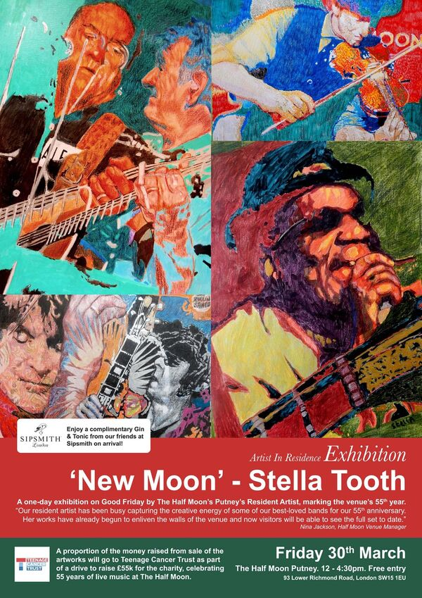 Resident Artist exhibition Stella Tooth Half Moon Putney exhibition flyer