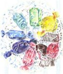 Sweets - coloured pencil