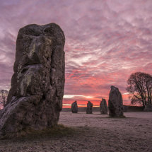 Avebury winter sunrise Wiltshire