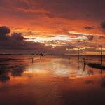 Sunrise Lindisfarne Causeway