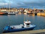 Anstruther Marina at sunset.