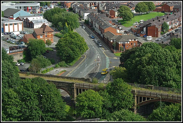 View towards Bury Old Road, Bolton