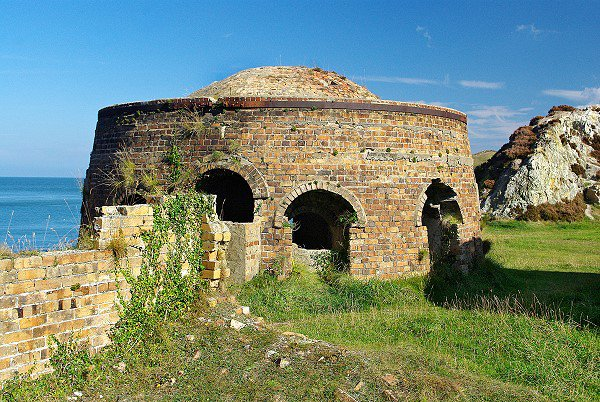 One of three old lime kilns