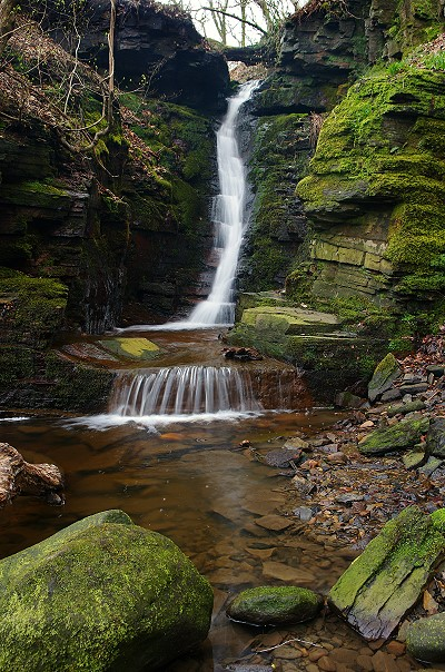 Tigers Clough Crooked Edge Waterfall