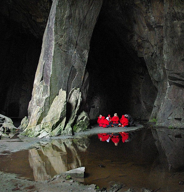 Caving for beginners.
