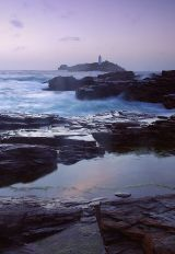 Stormy evening at Godrevy