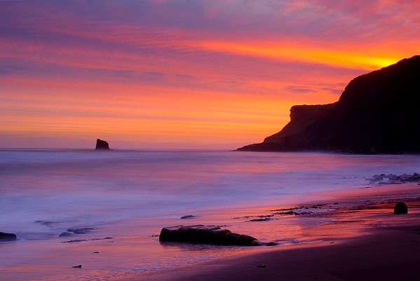 Sunrise at Saltwick Bay