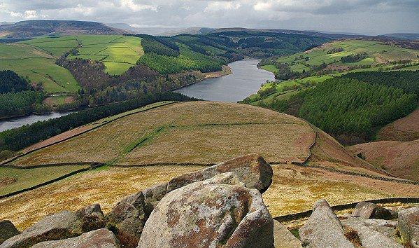 View towards Ladybower Reservoir