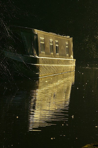 Barge in the late afternoon sun
