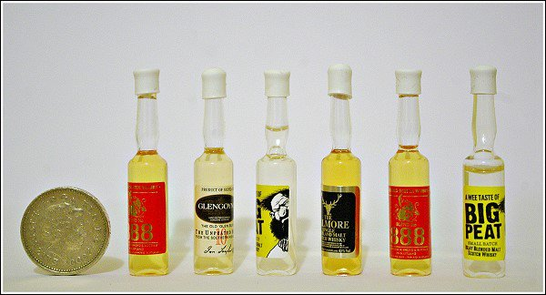 The smallest bottles of Whisky in the world!