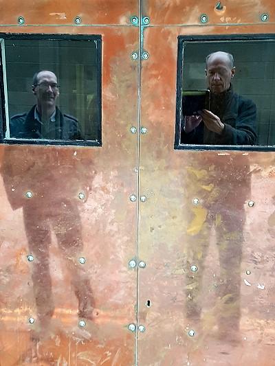 Copper Door Reflections