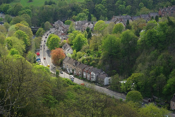 View of A6 to Matlock