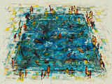 Pool. 2010, acrylic on paper, 56x76cm