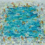 Swimming Pool ( 1 ). 2017 oil on canvas. 120 x 150cm..