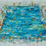 Swimming Pool ( 3 ). 2017. oil on canvas. 105 x 140cm..