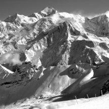 Mont Blanc Massif, vue des Grandes Platieres, Chamonix Valley