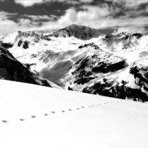 Traces de Pas, Val d'Isere ('Footsteps in the snow')