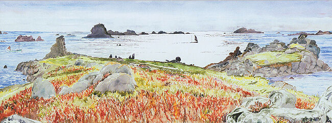 Passing Boats, Droppy Nose Point, Bryher, Isles of Scilly