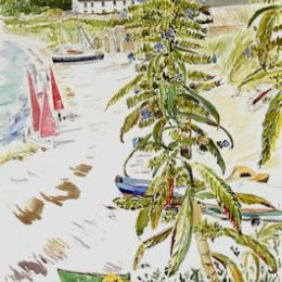 """Echium over Porthmellon"", St Marys, Isles of Scilly"