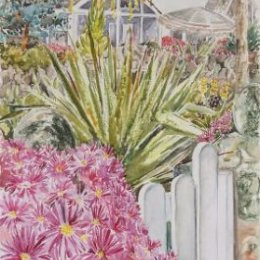 """""""Furcraea and Porthcressa Cottages"""", Hugh Town, Isles of Scilly"""