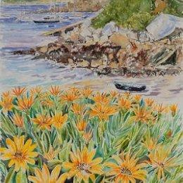 """Gazanias on the Strand"", St Marys, Isles of Scilly"