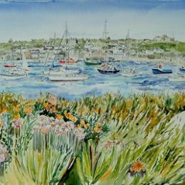 """""""Harbour Boats from Newford Island"""", St Marys, Isles of Scilly"""