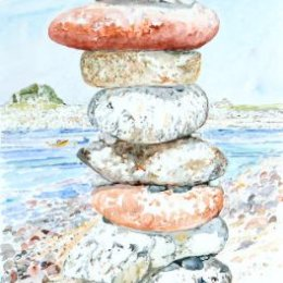"""""""Tower of Pebbles"""",  St Agnes, Isles of Scilly"""