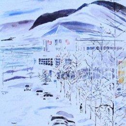 'Akureyri Day', Iceland (ink painting)