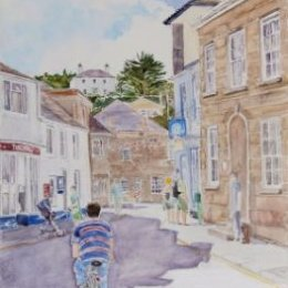 """""""Busy Afternoon, Hugh Town"""", St Marys, Isles of Scilly"""