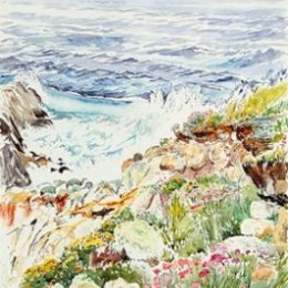 """Sea Pinks towards St Agnes"", The Garrison, St Marys, Isles of Scilly"