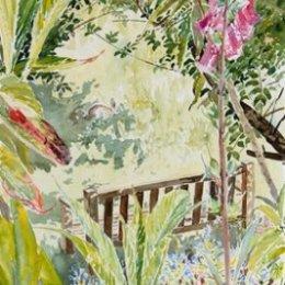 """Solitary Rabbit, Carreg Dhu Garden"", St Marys, Isles of Scilly"