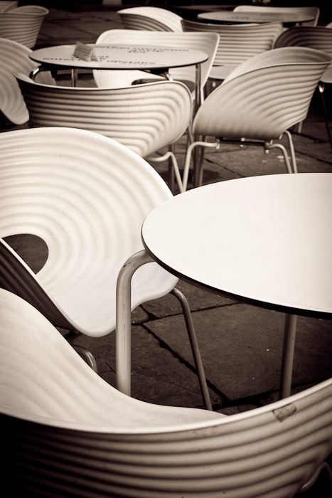 Tables and chairs, Liverpool