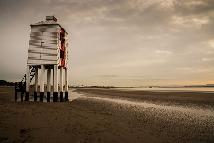 Lighthouse with Red Stripe, Burnham on Sea