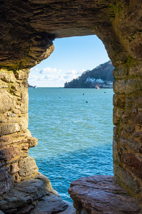 Castle Firing Slot and Sea, Dartmouth, Devon