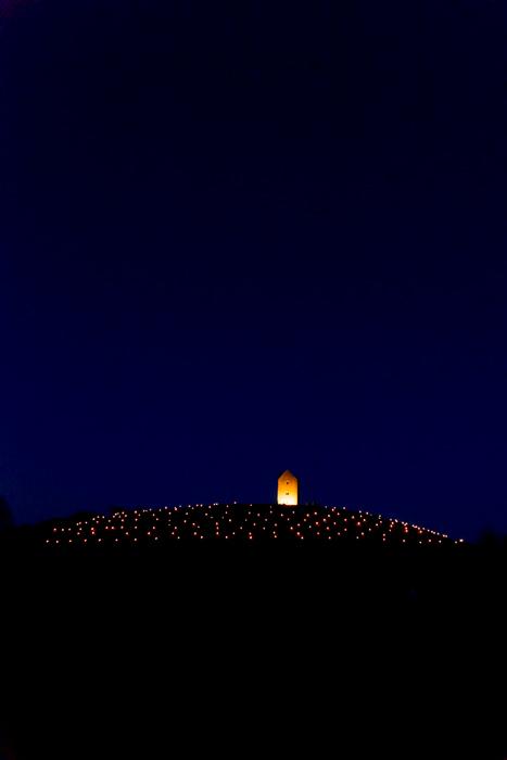 Somerset, England: Bruton – 'Spiral of Light' Festival 2 - portrait format