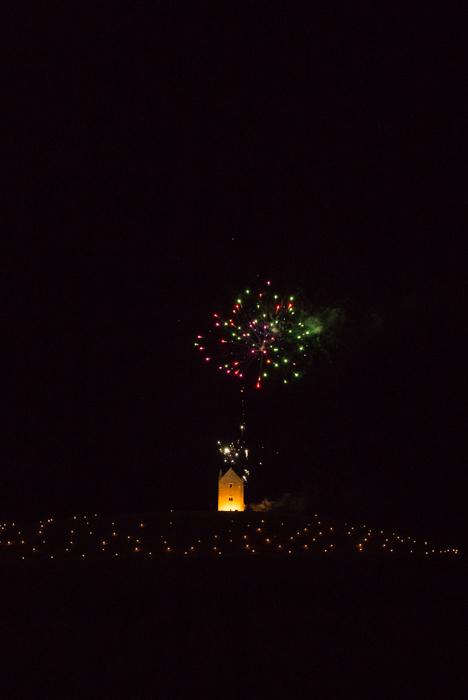 Somerset, England: Bruton – 'Spiral of Light' Festival Fireworks 1