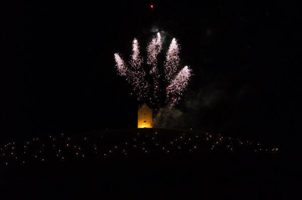Somerset, England: Bruton – 'Spiral of Light' Festival Fireworks 2
